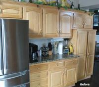 Refinishing Kitchen Cabinets Before And After Photos ...
