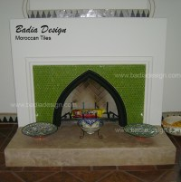 moroccan tile fireplace | Moroccan Tiles Los Angeles