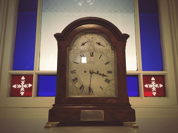 Penzance clock on the staircase