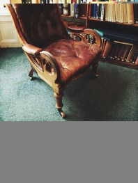 Comfortable chair in the Reading Room