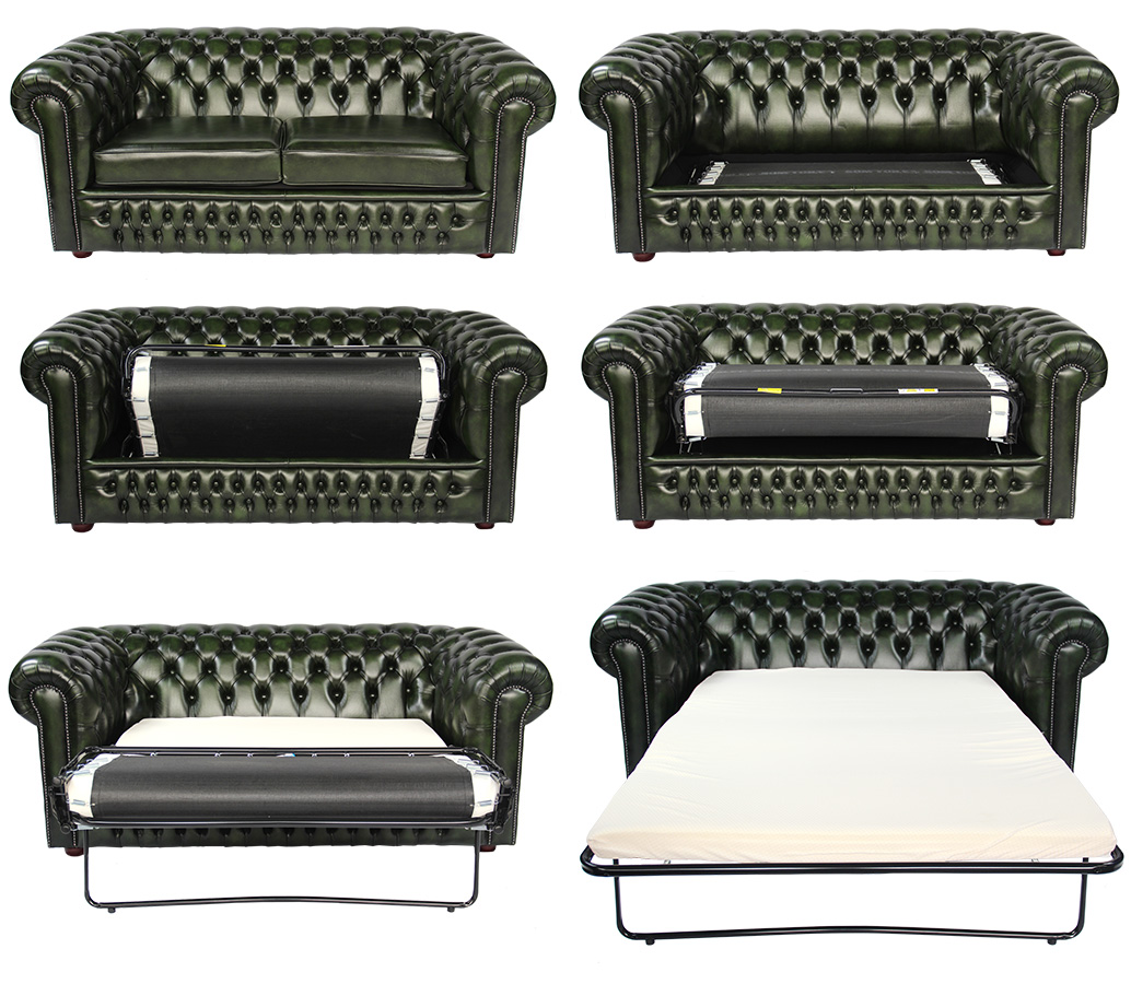 Bettsofa Chesterfield Chesterfield Schlafsofa Leder