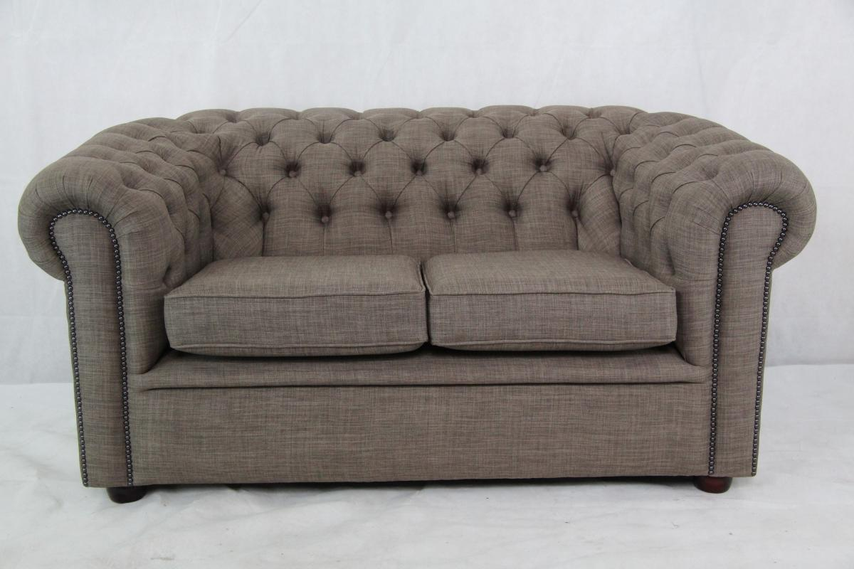 Englische Sessel Stoff Original Chesterfield Sofa