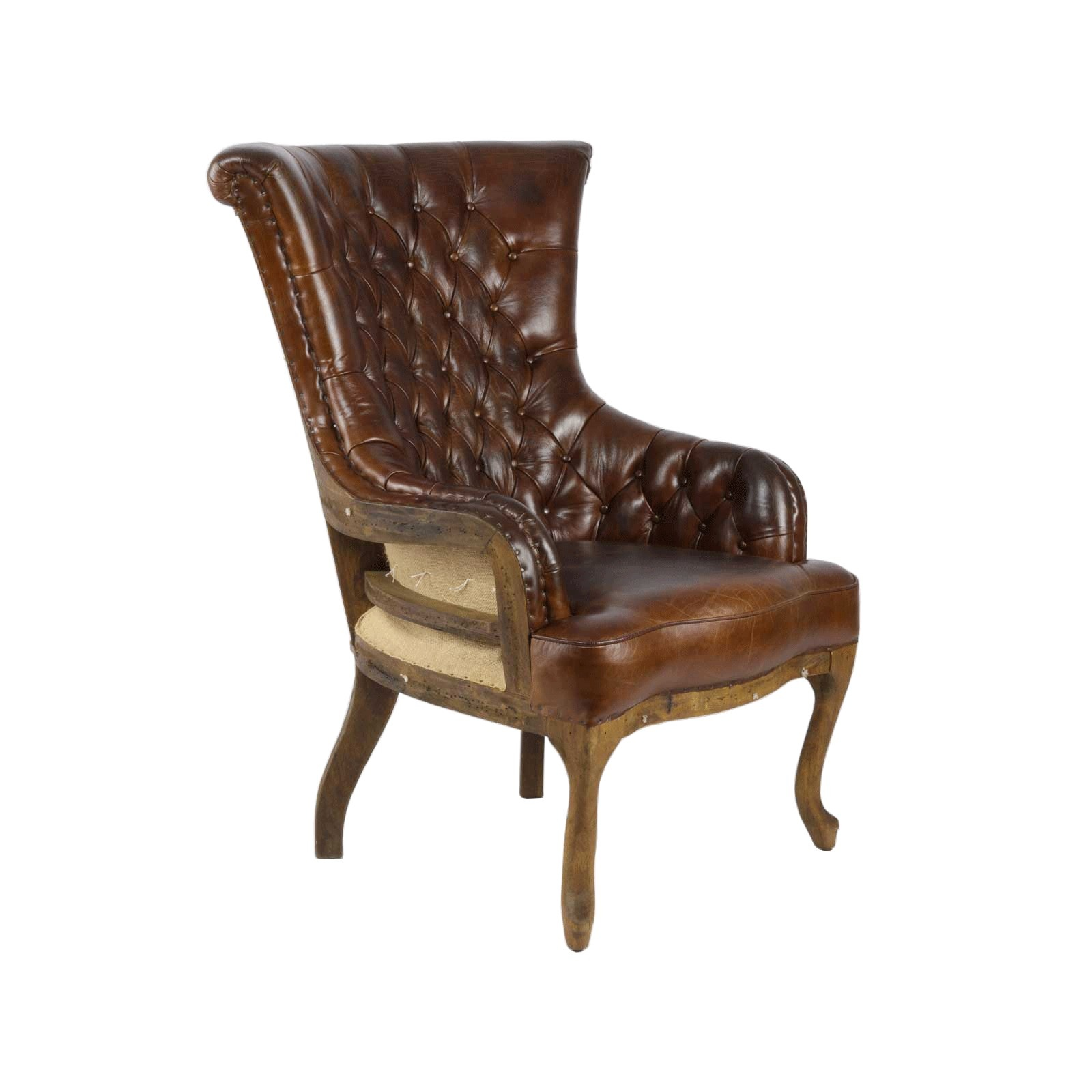Sessel Chesterfield Französischer Chesterfield Sessel Echtleder Ledersessel