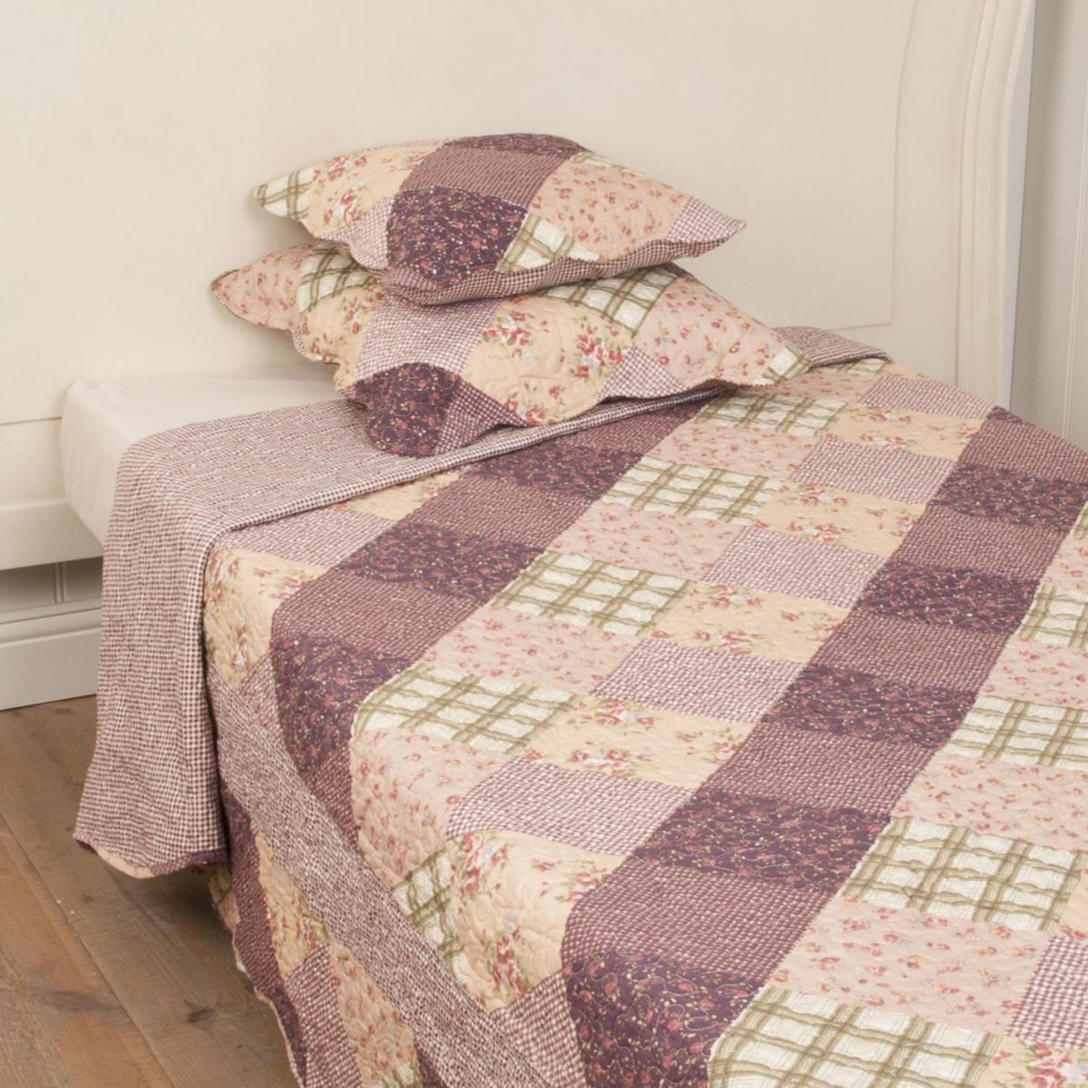 Bettdecke Tagesdecke Plaid Decke Weiss Stickerei Floral Clayre And Eef Q123 061 Tagesdecke Quotblumen Lila Quot 230 X 260