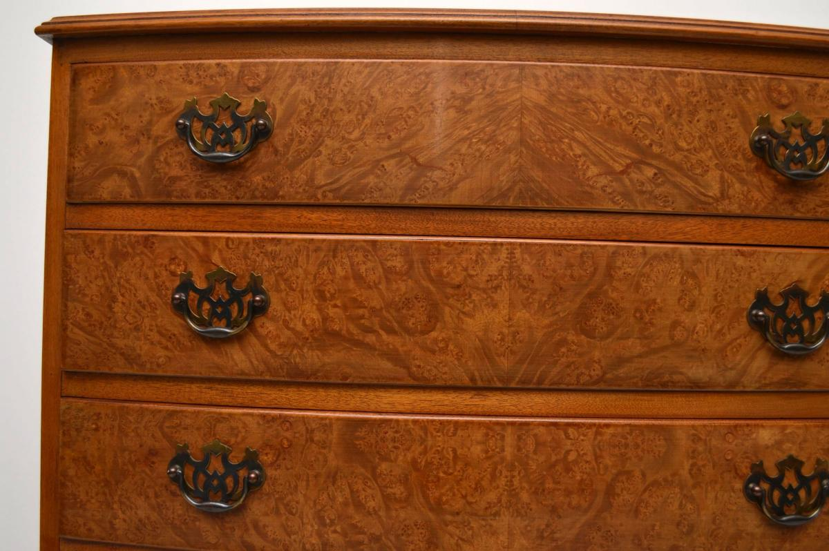 Sessel Dreißiger Jahre Antiker Georgian Style Burr Walnut Chest On Chest