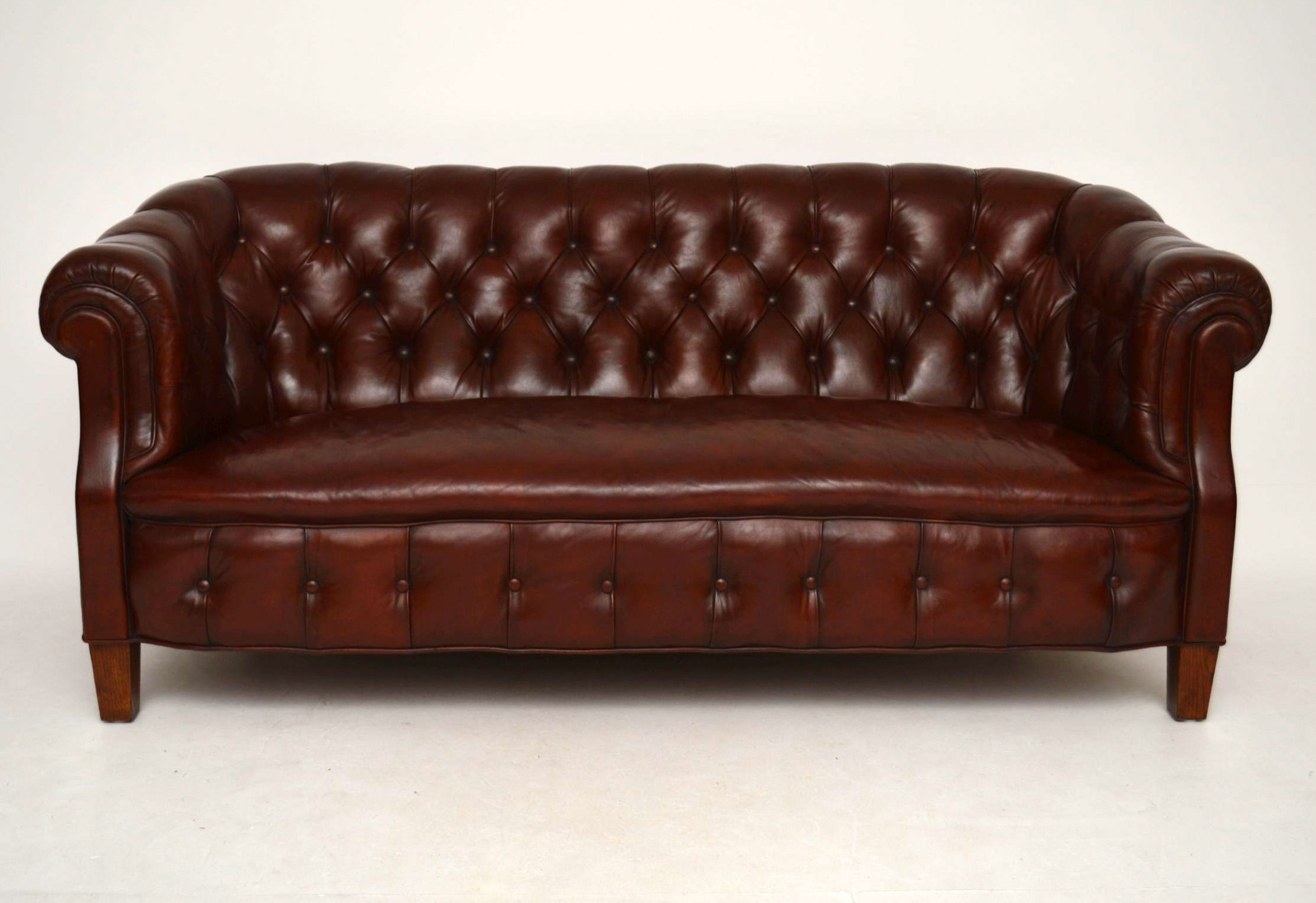 Chesterfield Sofa Wiesbaden Antikes Swedish Leather Chesterfield Sofa