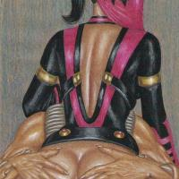 While Mileena rides on this hard stud she looks back on you - her ass can take another one cock