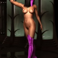 Mileena's new distracting move - get naked!