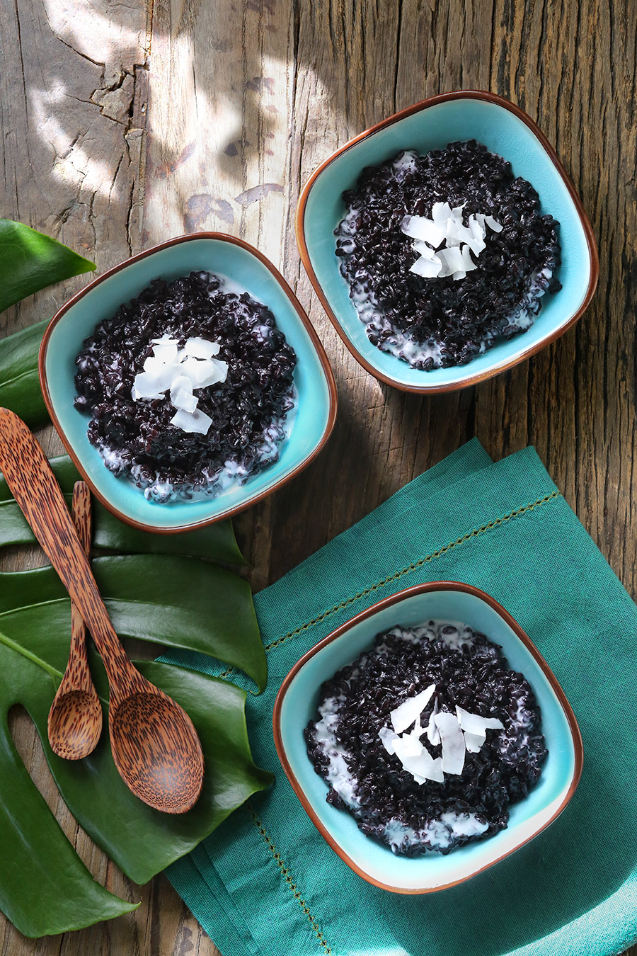 Black rice pudding recipe. #Bali #coconuts