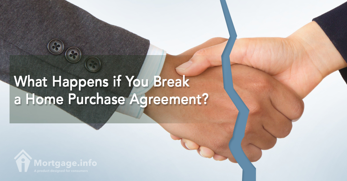 What Happens if You Break a Home Purchase Agreement? - Mortgageinfo