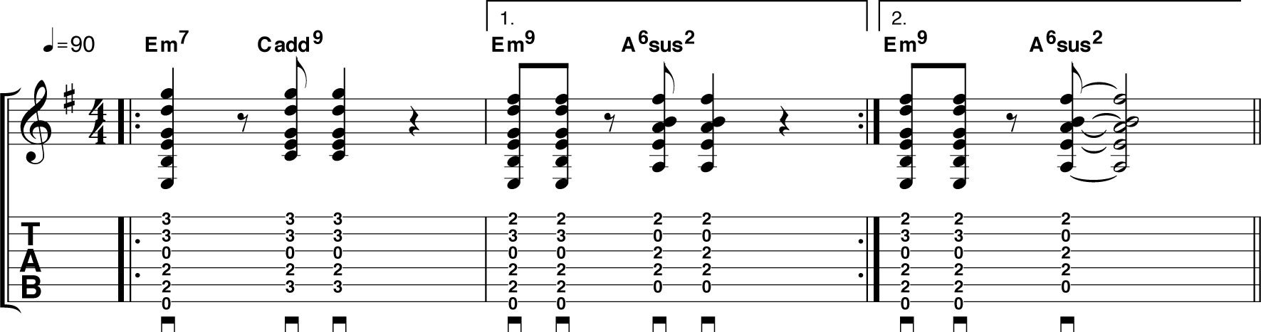 Em9 chord guitar images guitar chords examples em9 chord guitar image collections guitar chords examples guitar chord em9 30 chords acoustic guitar players hexwebz Image collections