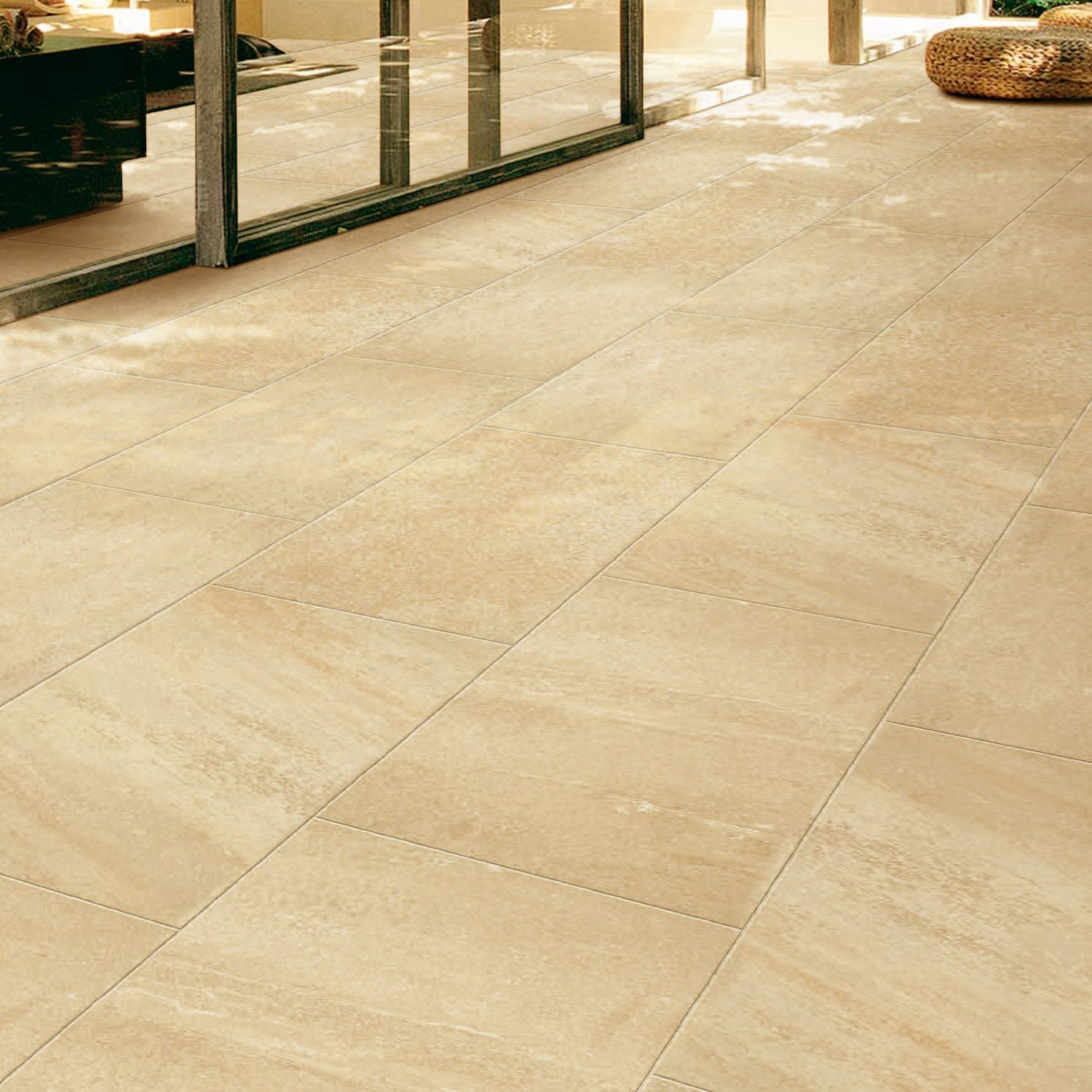 Marmorfliesen Beige Floor Tiles Travertine Optic Pisa Polished