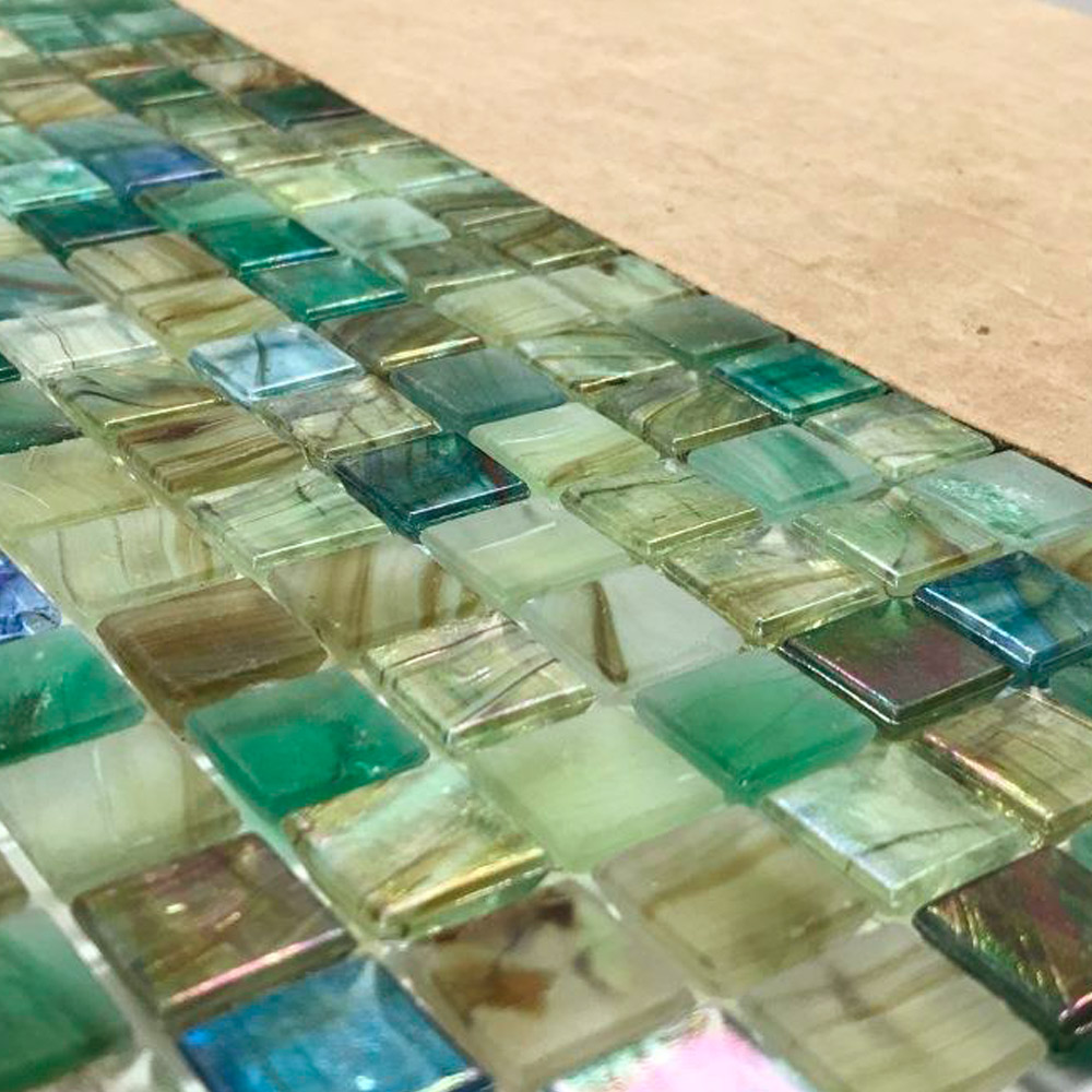 Glas Pool Glass Swimming Pool Mosaic Tiles Pergamon Green