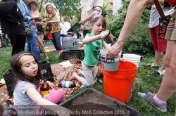 The Mud Village making mudballs to revitalize waterways at El Jardin Del Paraiso