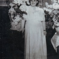 1950 год. Воложинская Изабелла Зиновьена. В день свадьбы с Мадорским Наумом Львовичем