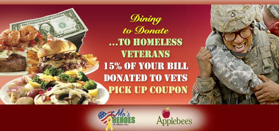 Coupon Flyer Dining to Donate - Mo\u0027s Heroes