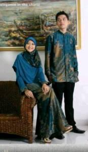 Baju Pesta Muslimah Couple Batik Couple Batik Muslimah Couple Dress