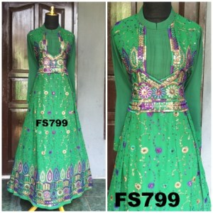 model baju gaun sari india