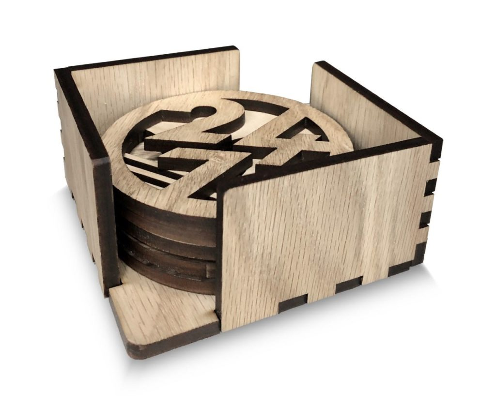Wooden Coaster Holder Custom Coaster Holders