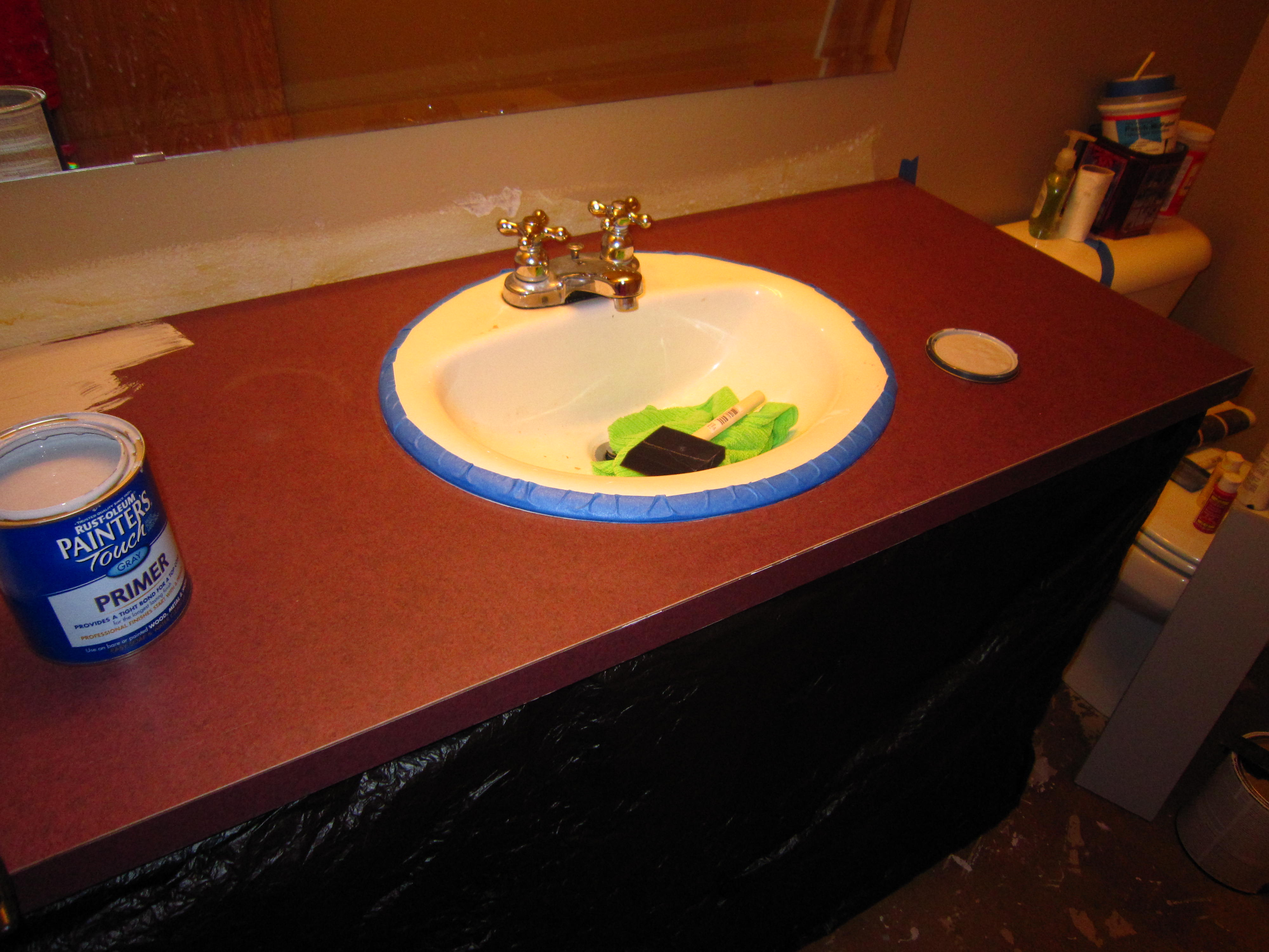 How To Cut Sink In Laminate Countertop Diy Faux Granite Countertop Without A Kit For Under 60