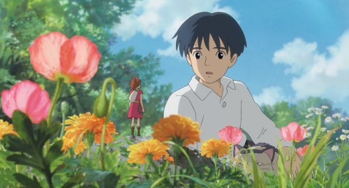 """""""€œTHE SECRET WORLD OF ARRIETTY""""   Human boy Shawn (right, voice of David Henrie) is astonished when he visits the garden and discovers Arrietty (voice of Bridgit Mendler) a tiny person who lives hidden with her family under the floorboards of the house where he's staying, in Disney's release of the Studio Ghibli animated feature, """"€œThe Secret World of Arrietty.""""€ (Opening in theaters Feb. 17, 2012)  © 2010 GNDHDDTW. All Rights Reserved."""