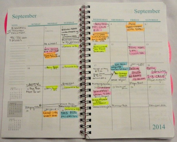 The collegiates guide to using a planner - Mostly Morgan - college planner organization