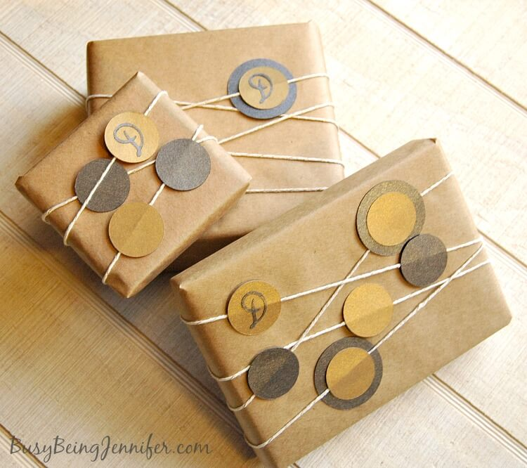 gift wrap ideas, how to wrap gifts, kraft paper gift wrap