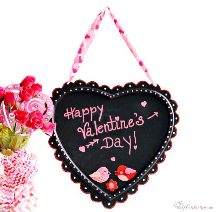 Valentine's Day ideas, Valentine's Day gift ideas, chalkboard ideas
