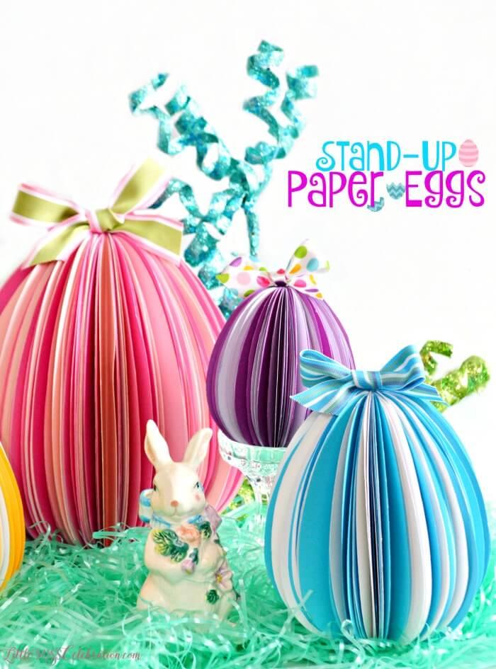 Easter decorations, paper Easter eggs, kids crafts