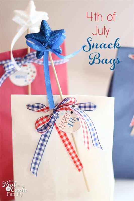 4th of July gift bags, Patrotic Gift Bags, 4th of July crafts, Patriotic Crafts