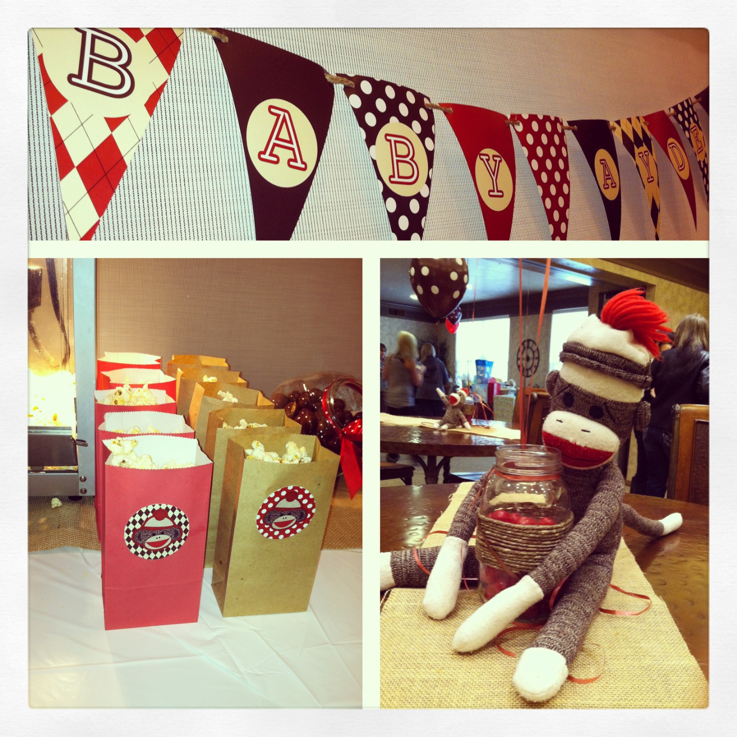 Birthday Photography Tips And Tricks: FREE Sock Monkey Printable Decorations For Baby Shower Or