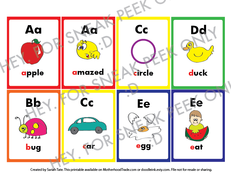 Unique Alphabet Flash Card Printables With All Sounds Of
