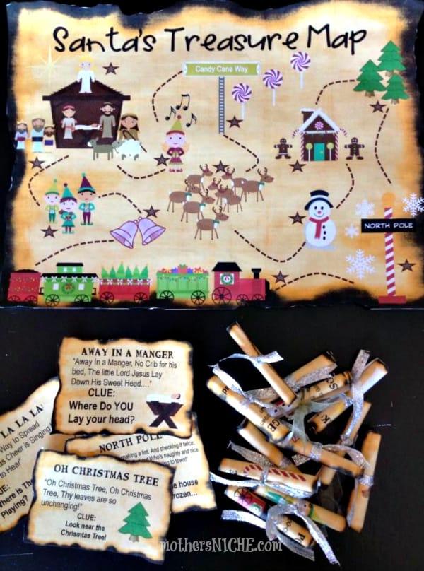 DIY Printable Christmas Treasure Map Craft