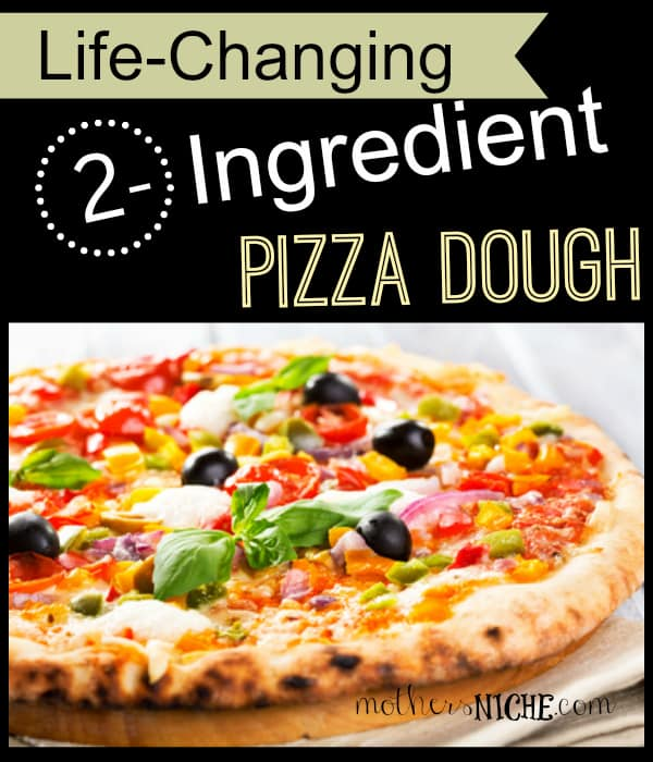 ... soft, yummy pizza crust in 5 minutes using flour and Greek yogurt