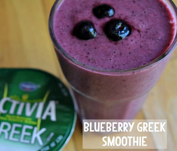 Blueberry Smoothie with Greek Yogurt - Great Post Workout Snack!