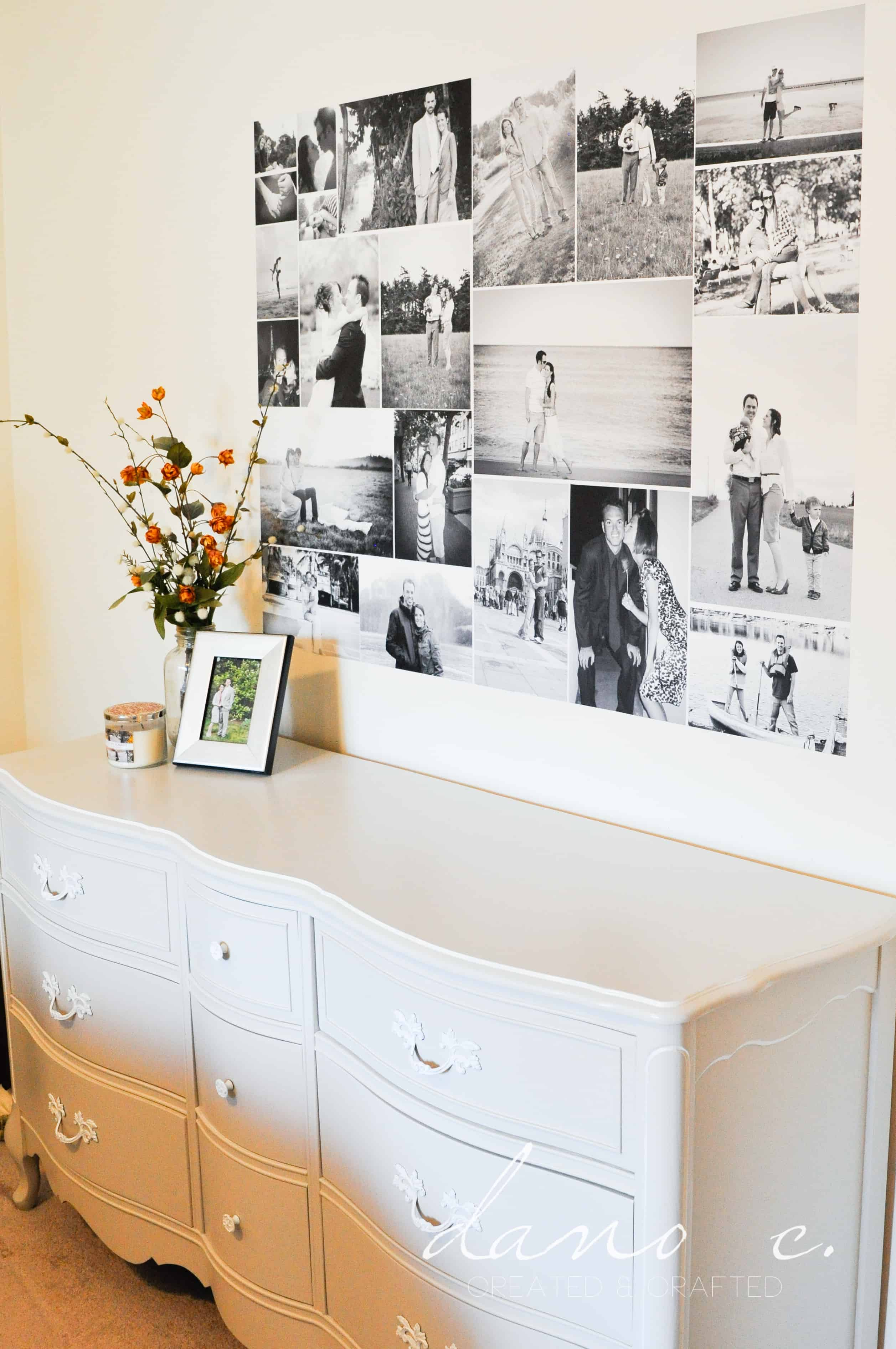 Adding A Wall To A Room How To Turn A Photo Collage Into A Removable Wall Adhesive