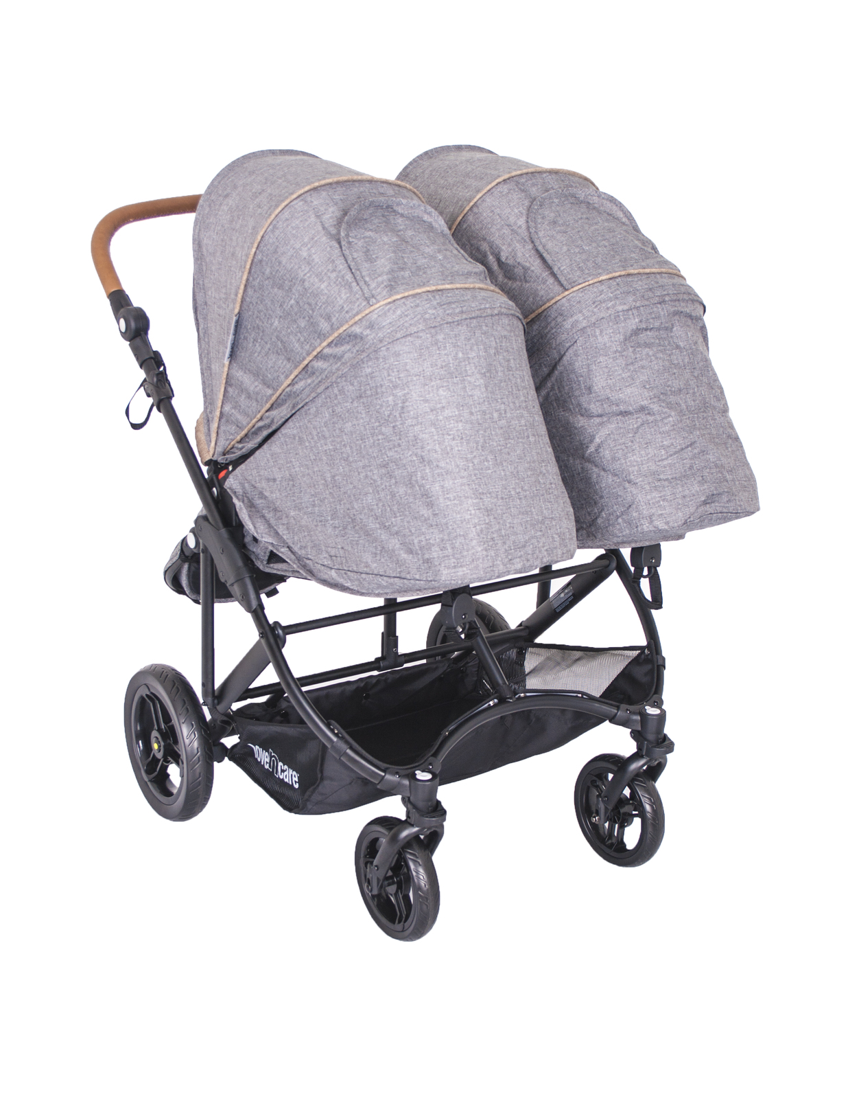 Double Pram Nappy Bag Love N Care Twingo Stroller Smoke