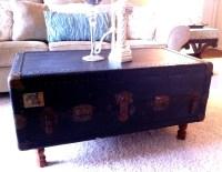 Steamer Trunk Coffee Table: Repurposing Old Stuff ...