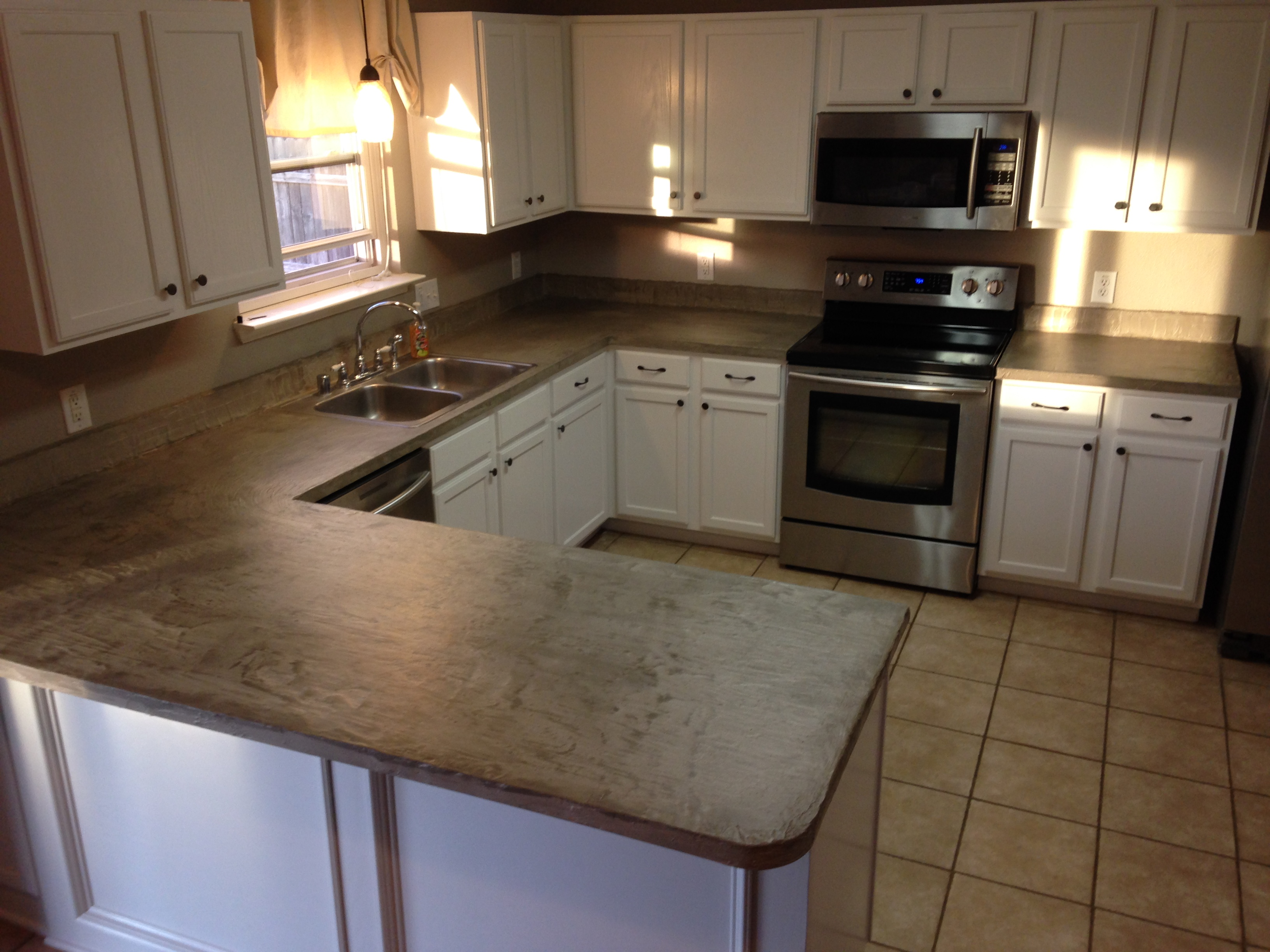 Finished Concrete Countertops How To Makeover Your Counters With Ardex Concrete
