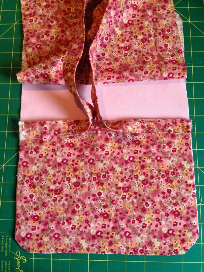 Pochette en tissu - détail