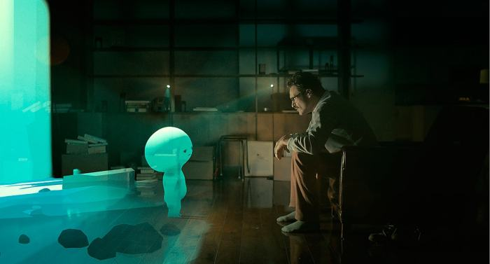 "David OReilly directed the ""Alien Child"" video game sequences in Spike Jonze's ""Her."""