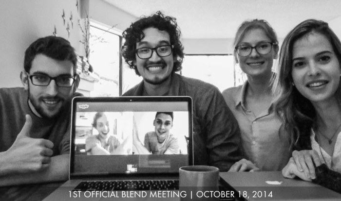 The Blend team's first meeting