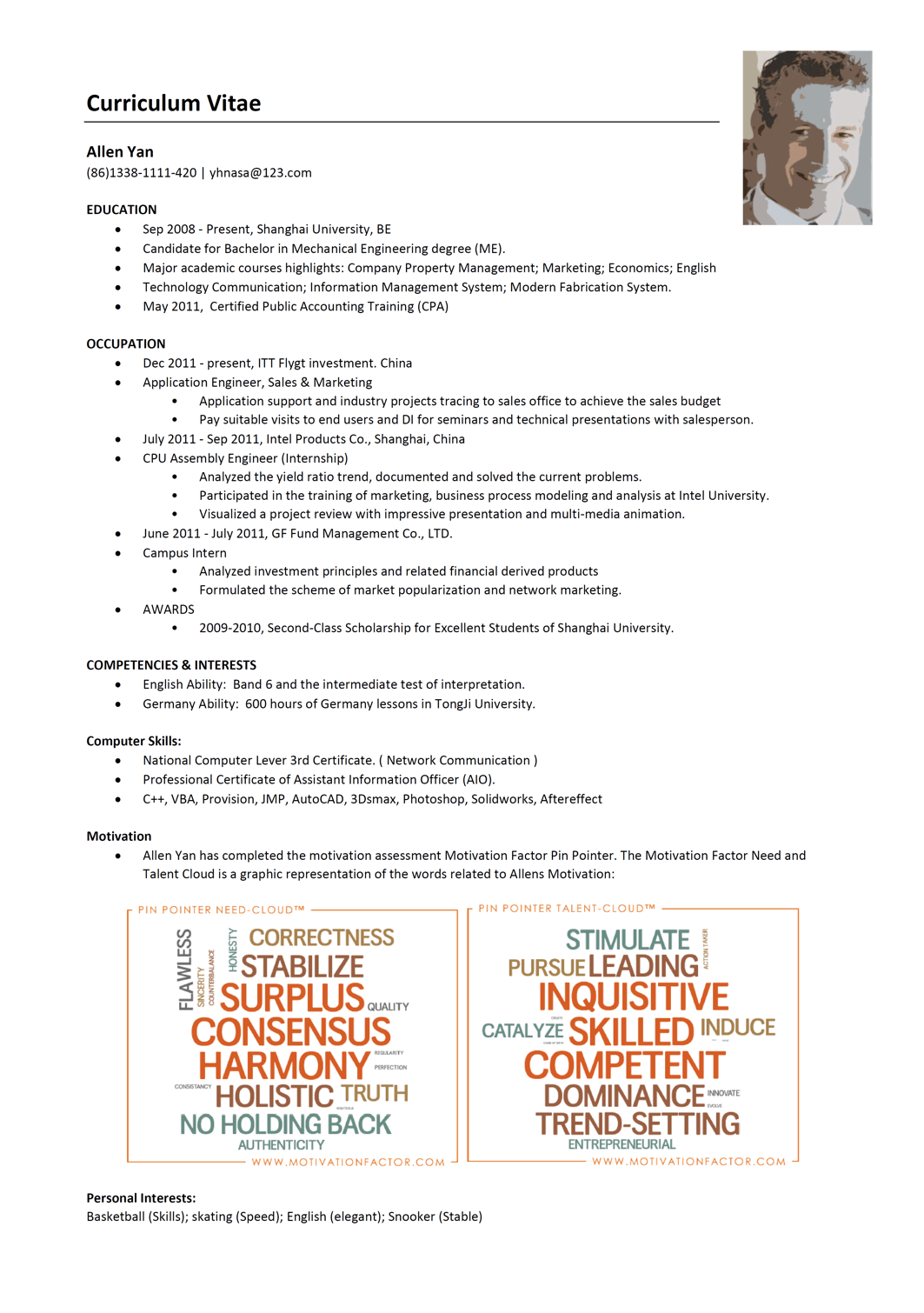 what to include in a professional resume