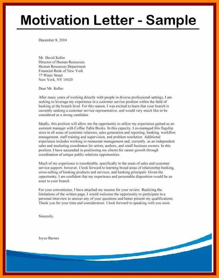 Motivation Letter Sample For a Job on Cruise Ship Motivation Letter