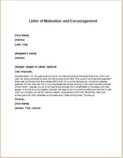 Motivation Letter Motivation Letter Sample, Examples, Motivation