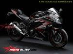 Modif Striping Kawasaki Ninja R FI Black Red MOTOBLAST