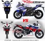 HOT Kompare Yamaha R VS Honda CBRR Dual Keen Eyes MOTOBLAST