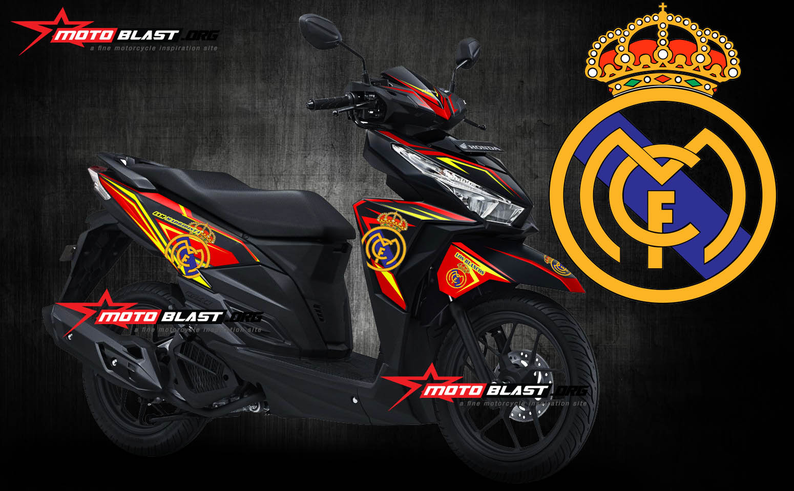 Graphic kit Honda Vario 150 Black Real Madrid FC – RED