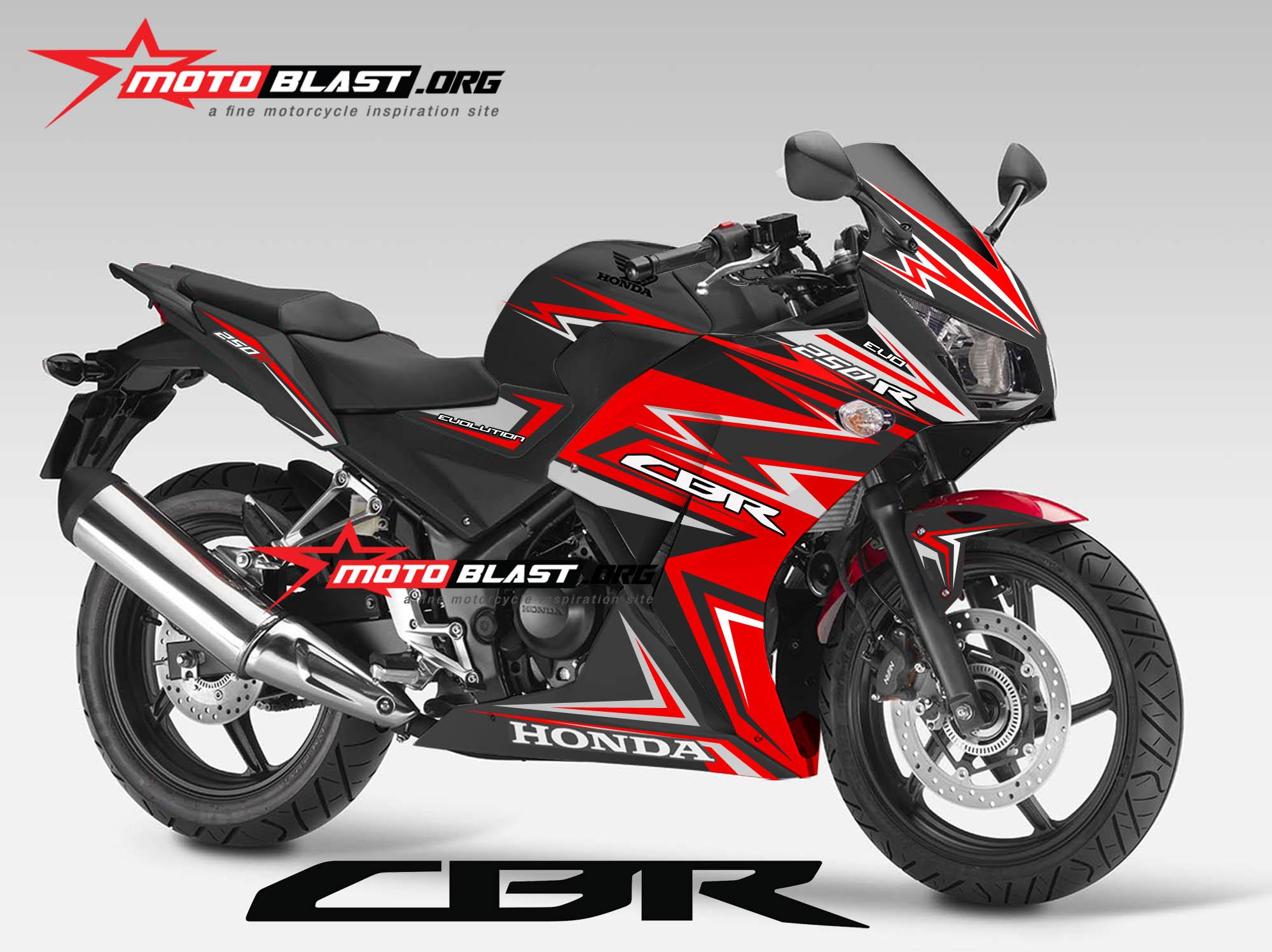 Graphic Kit Honda CBR250R/CBR150R K45 Lokal Black Thunder