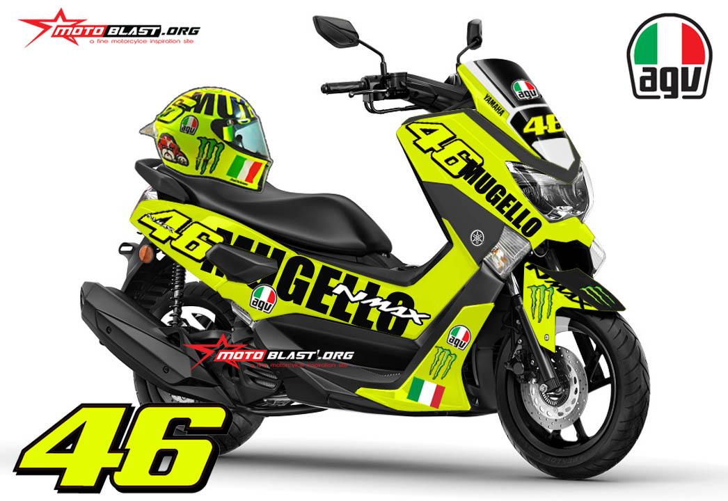 Graphic Kit Yamaha NMAX ala AGV Helmet MUGELLO VR_46